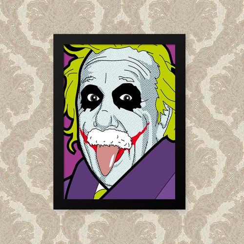Quadro Einsten Joker 33x43cm