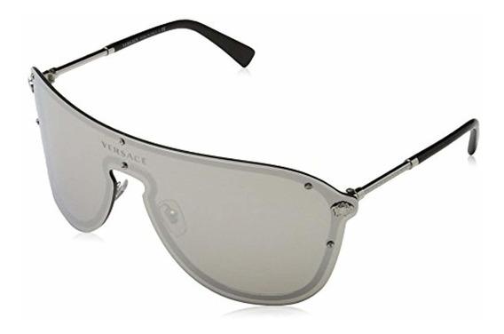 Versace Women S Mirrored Shield Sunglasses