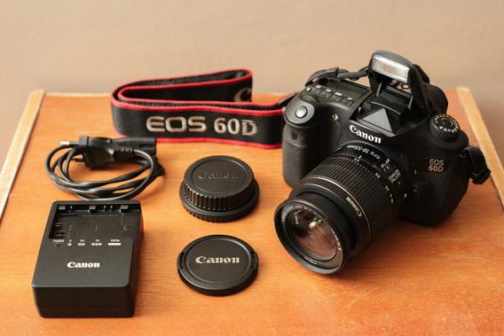 Câmera Canon 60d + Lente Kit 18-55mm - Apenas 18mil Clicks