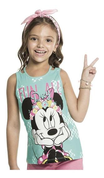 Regata Infantil Menina Com Estampa Minnie - Cativa D20204