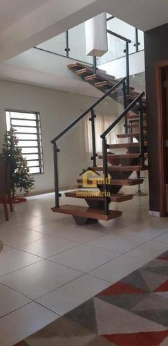 Casa Com 3 Dormitórios Para Alugar, 237 M² Por R$ 3.200/mês - Residencial Greenville - Ribeirão Preto/sp - Ca0936