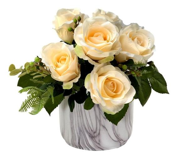 1 Buque Grande Rosas Artificiais Flor De Macieira E Folhas