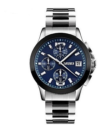 Relógio De Pulso Masculico Luxo Mov. Quartzo - Frete Grátis