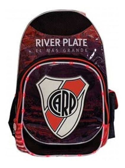 Mochila Escolar Espalda Futbol River Plate Ri164 Luz Led