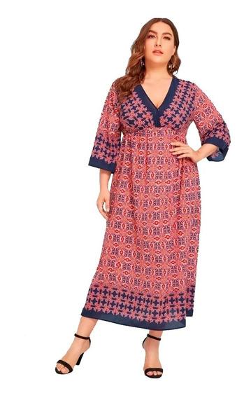 Vestido Shein Tribal Print Plus Size 3x