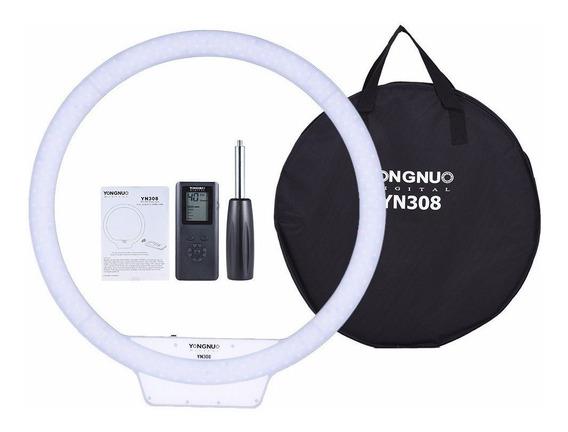 Iluminador De Led Ring Light Yongnuo Yn-308 308 Leds Com Nfe