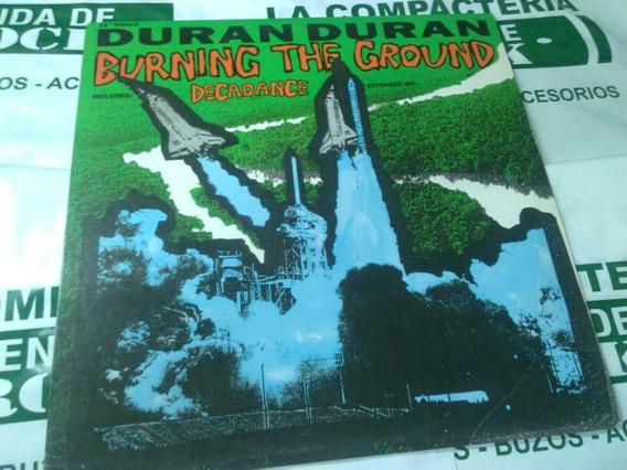 Duran Duran Burning The Ground Decadance Vinilo Maxi 12
