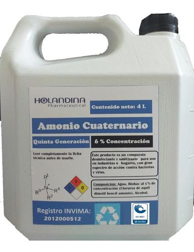 Amonio Desinfectante Cuaternario Galón