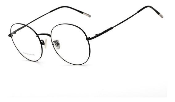 Armação Oculos Ogrife Og 1799-c Feminino Metal Redondo Luxo