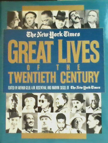Livro New York Times Great Lives Of The Twentieth Century
