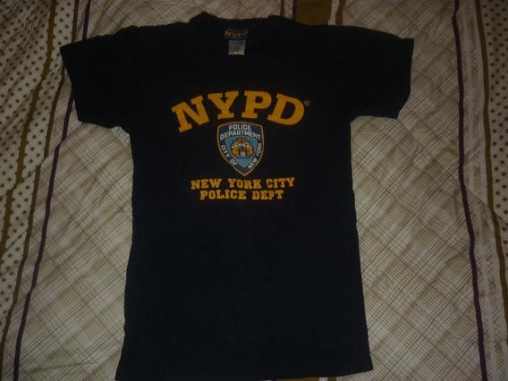 E Remera Policia New York Nypd Algodon Talle S Art 89351
