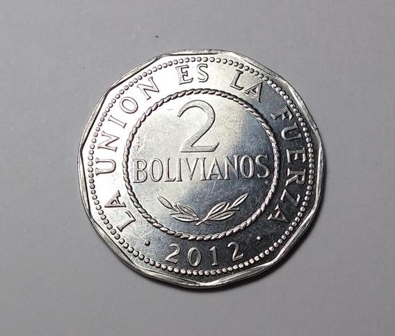 Moneda De 2 Bolivianos. Sin Circular.