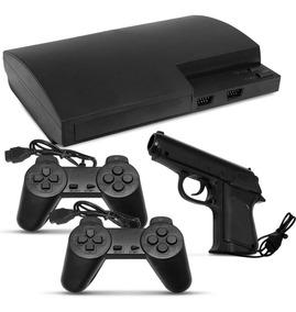 Video Game Polystation 3 Jogos Retrô 2 Controles E Pistola