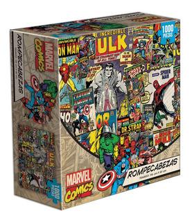 Rompecabezas Novelty Marvel Comics Collage Spiderman Thor