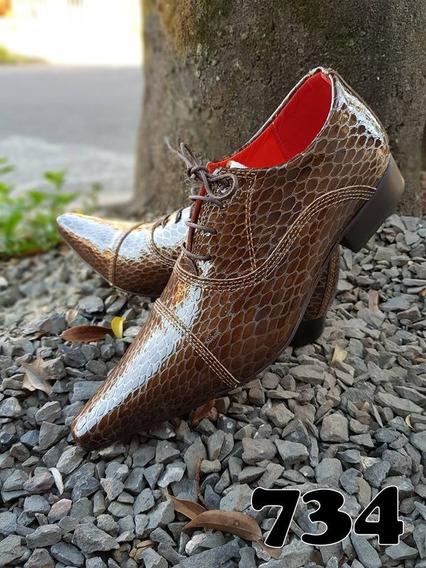 Sapato Social Masculino Couro Importado +broche+frete**
