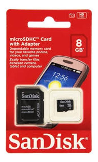 Cartão De Memória Micro Sd Sdhc 8 Gb Sandisk
