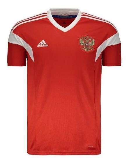 Camisa adidas Rússia I Home Original Copa Mundo 18/19 Vermel