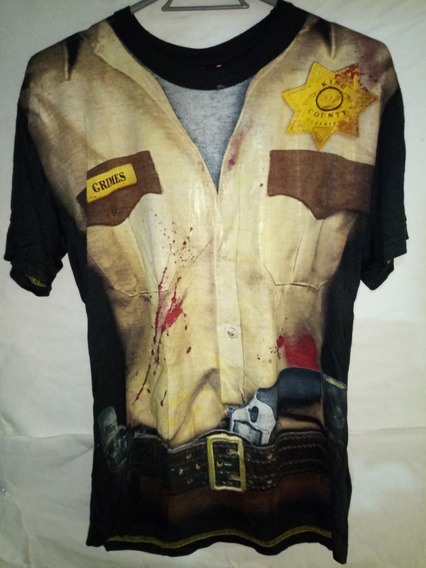 Playera De Rick Grames The Walking Dead Adulto Talla M Media