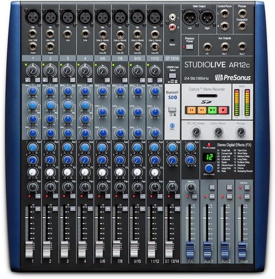 Presonus Studiolive Ar12c Mixer Interface Multipista Usb Sd