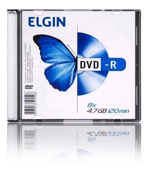11 Unids. Dvd-r Elgin 4.7gb 8x 120 Min Slim Case