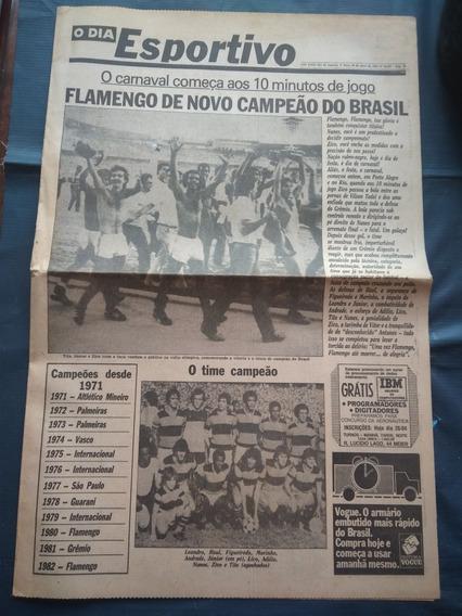Flamengo Campeão Brasileiro 82 - Jornal O Dia Esportivo