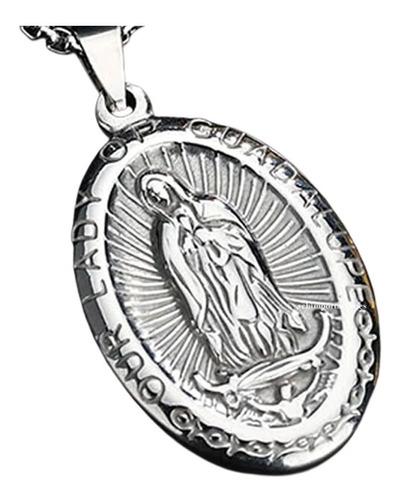 Nueva Medalla Nuestra Señora De Guadalupe - Consagrada Acero