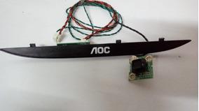Teclado E Sensor Tv Aoc Le48d1452 Original Funcionando 100%