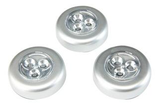 Lamparas De 3 Led Luz A Baterias Con Forro Adhesivo Cajon Gabinete Closet Cocina Armario Escalera Oficina Pasillo Librer