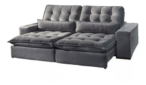 Sofá Retratil Pillow Top 20cm 2.10x1.80 P/ Pessoas Exigentes