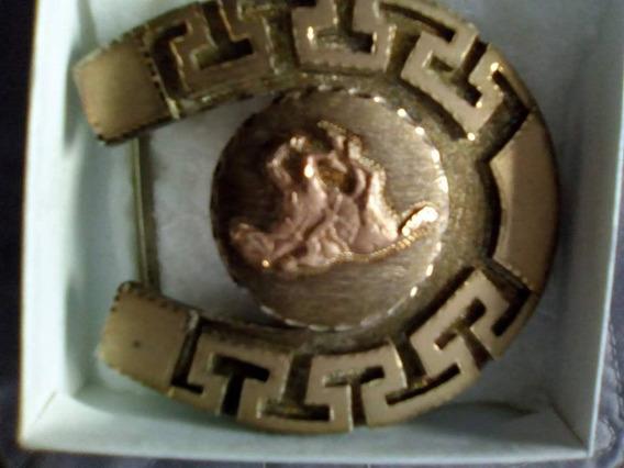 Hebilla Hombre/mujer De Plata Con Chapa De Oro 24 K