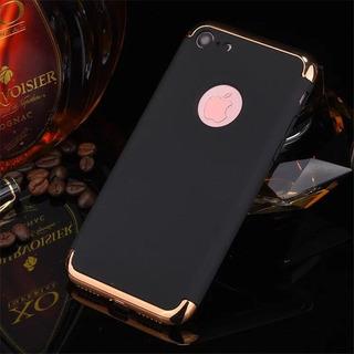 Capinha Preta iPhone 8. Anti Impacto Com Bordas Douradas.