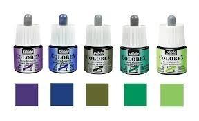 Tintas Comics Pebeo Colorex X 45 Ml X 10 Unidades Surtidas