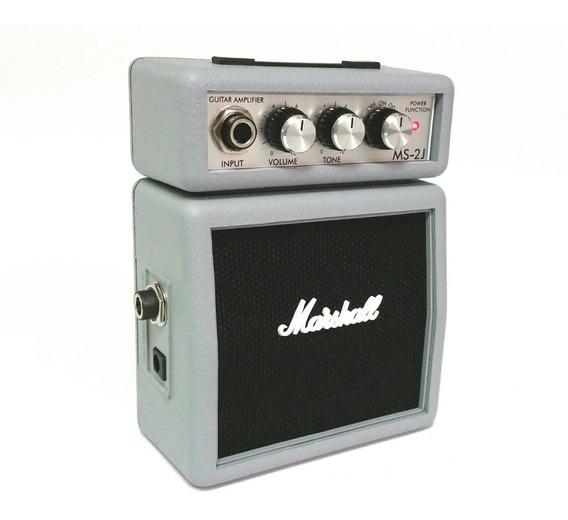 Amplificador Marshall Ms2 Micro For Guitar Plata