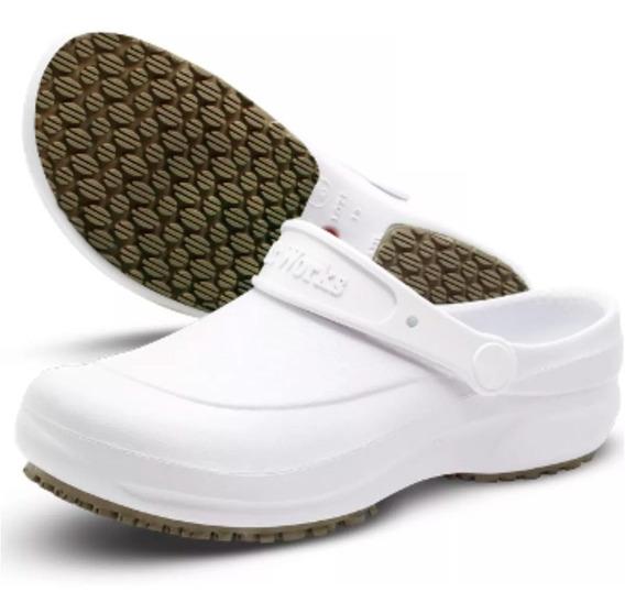 Sapato Antiderrapante Enfermagem Cozinha Padaria Medico Bb60
