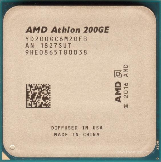 Processador gamer AMD Athlon 200GE YD200GC6FBBOX de 2 núcleos e 3.2GHz de frequência com gráfica integrada