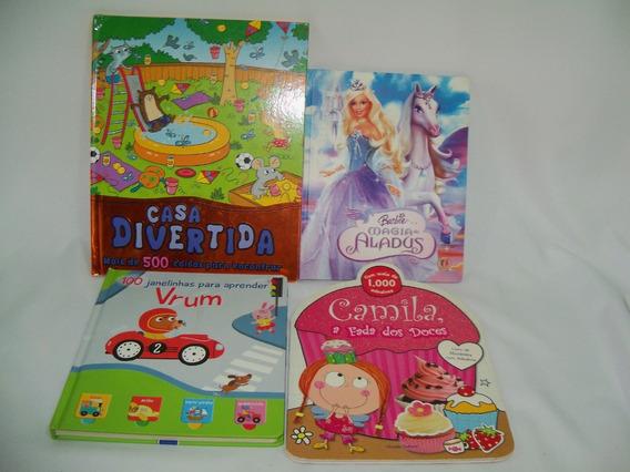 Livros Infantis Interativos Janelinhas/adesivos/encontre