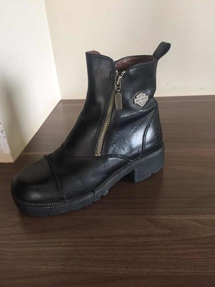 Bota/boot Harley Davidson Feminina Importada Original