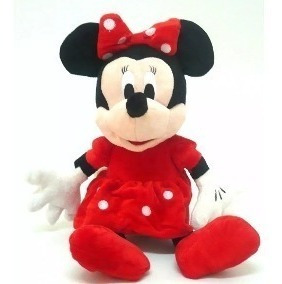 Minnie Pelúcia Musical Anti Alérgica Vermelha Sentada