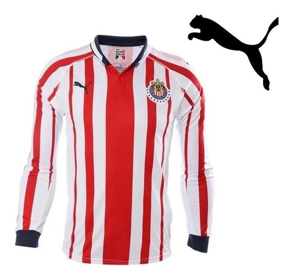Jersey Puma Chivas Manga Larga Local