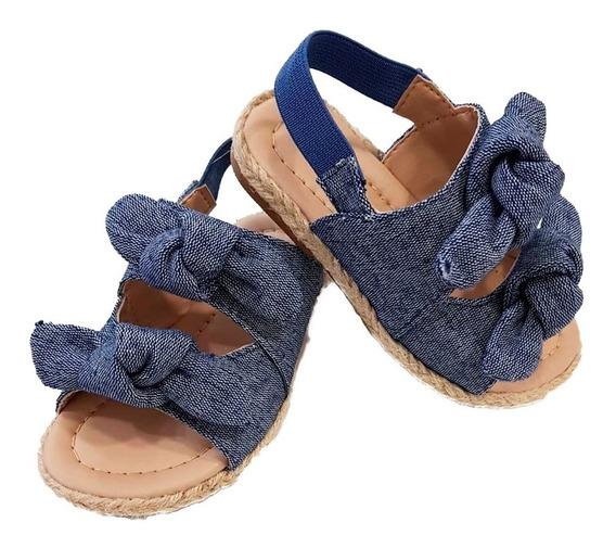 Sandália Jeans Luelua Elástico Azul Infantil Nº 22 Ao 27