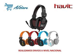 Audifono Gamer Havit H2168d Usb Con Luz Led
