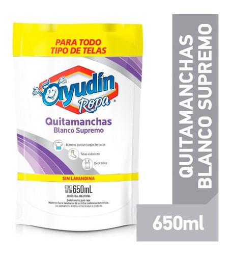 Ayudin Quitamanchas Ropa Blanca Liquido Doypack X 650 Ml