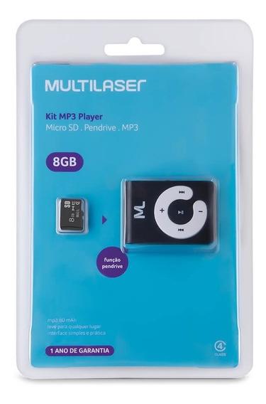 Mp3 Player Multilaser + Fone De Ouvido Nipponic Lilás C/ Br