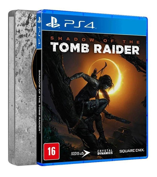 Shadow Of The Tomb Raider Steelbook Edition Ps4 Mídia Física