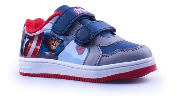 Zapatillas Atomik Niños Marvel Velcro Capitan America Mvl007