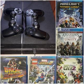 Playstation 4 + 2 Controles Y 5 Juegos!