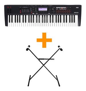 Korg Kross 2 61 Teclas Sintetizador + Tijera + Fuente Cuotas