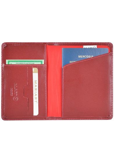 Carteira Unissex M.art Couro Legítimo Porta Passaporte 181