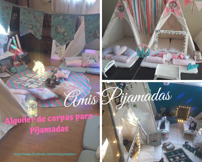 Alquiler De Carpas Para Pijamadas,carpas Teepee,pijama Party