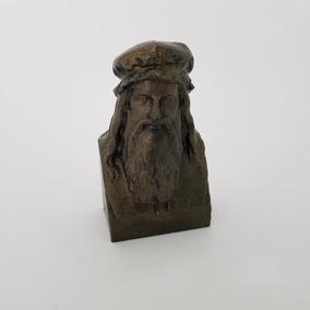 Réplica Exata Busto Leonardo Da Vinci - Jardins De Borghese